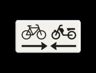 Verkeersbord RVV OB503OB104 - Onderbord - Kruising (brom)fietspad