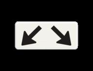 Verkeersbord RVV OB504 - Onderbord - Geldt voor twee parkeervakken