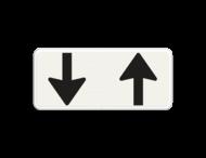 Verkeersbord RVV OB505 - Onderbord - Pijlbord tegenliggers