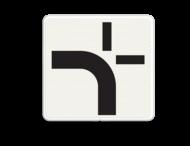 Verkeersbord RVV OB711 - Verloop voorrangsweg voor kruispunt