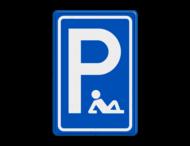 Verkeersbord - Met pensioen - P - Rustplaats