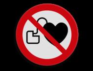 Veiligheidspictogram - Hart pacemakers verboden - P007