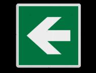 Veiligheidspictogram - Pijl links-omlaag