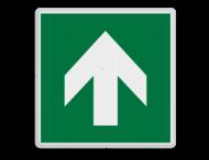 Veiligheidspictogram - Vluchtroute - te volgen richting - Pijl omhoog