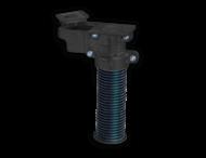 Grondpot PIPELOCK 600mm voor buis ø76mm + sleutel