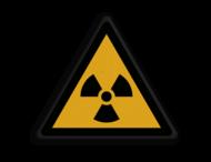 Veiligheidspictogram - Pas Op! Radioactief materiaal - W003