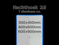 Basisbord omgezette rand - type 2:3 - rechthoek reflecterend