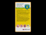 Informatiebord spelregels + logo full-colour opdruk