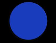 Basisbord omgezette rand - type rond- rondom gepoedercoat