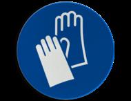 Gebodsbord M009 - Veiligheidshandschoenen verplicht