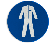 Pictogram M010 - Beschermende werkkleding verplicht
