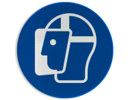 Pictogram M013 - Gelaatsbescherming verplicht