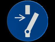 Pictogram M021 - Verplicht uitschakelen voor aanvang werkzaamheden