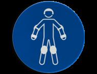 Pictogram M049 - Draag beschermende rollersportuitrusting