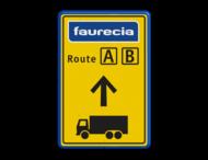 Informatiebord  3 kleuren opdruk + logo