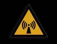 Veiligheidspictogram - Pas Op! niet-ioniserende straling - W005