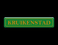Straatnaambord  800x150 mm groen/oranje Kruikenstad