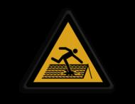 Veiligheidspictogram - Statische vloer - W036