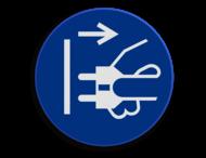 Veiligheidspictogram - Stekker verwijderen verplicht - M006