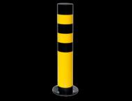 Verende Rampaal Ø159x965mm met voetplaat, geel/zwart