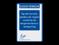 Informatiebord - EIGEN TERREIN - Tekstblok - LOGO