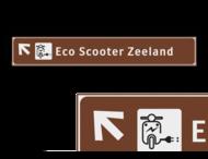Verwijsbord EIGEN LOGO 1500x230x32mm toeristisch - Eco Scooter Zeeland