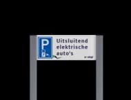 Parkeerplaatsbord unit, Parkeren + tekst - Ecotap - BE04g