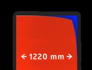 Reflecterende folie V-8008 EVG rood gemetaliseerd 1220mm breed
