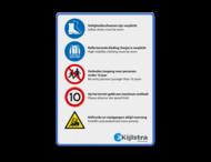 Veiligheids- informatiebord - inclusief logo
