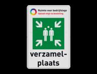 Verzamelplaats bord BHV met logo en tekst - E007 - BT33
