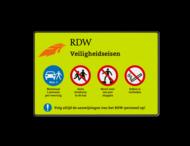 Informatiebord rechthoek RDW Veiligheidseisen