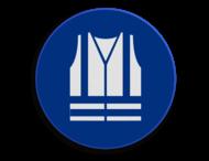 Veiligheidspictogram - Veiligheids vest dragen verplicht - M015