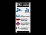 Verkeersbord Eigen terrein 3 kleuren + logo Saybolt