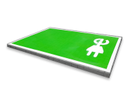 Wegmarkering - Oplaadpunt volledig vak groen/wit (E-stekker)
