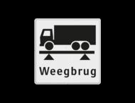 Informatiebord wit/zwart - weegbrug