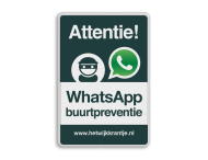 WhatsApp Attentie Buurtpreventie verkeersbord 02