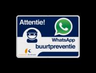 WhatsApp Attentie Buurtpreventie verkeersbord + Logo / Beeldmerk