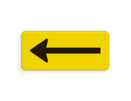 Verkeersbord RVV OB501rt  geel/zwart
