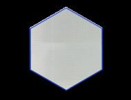 Basisbord omgezette rand - type zeskant - reflecterend