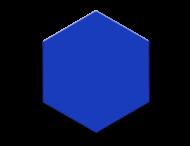 Basisbord omgezette rand - type zeskant - rondom gepoedercoat