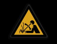 Veiligheidspictogram - Zetbank opletten - W32