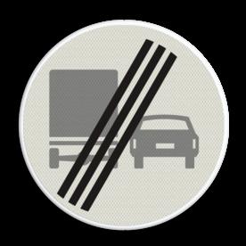 Verkeersbord RVV F04 - Einde inhaalverbod vrachtverkeer