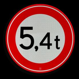 Verkeersbord RVV C21-... - Gesloten voor te zware voertuigen