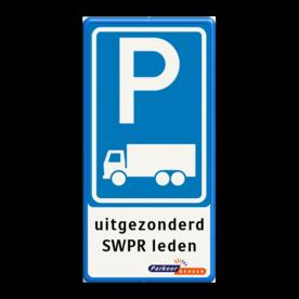 Verkeersbord RVV E08c - 3txt - logo