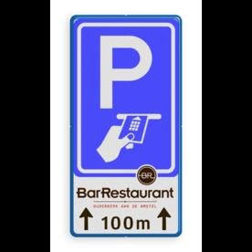 Verkeersbord RVV BW112 betaald parkeren Chipknip + 3 txt