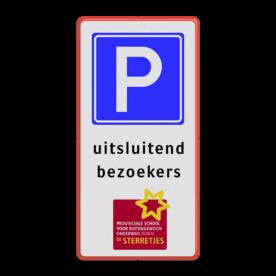 Verkeersbord 1:2 RVV E04 + eigen tekst + logo