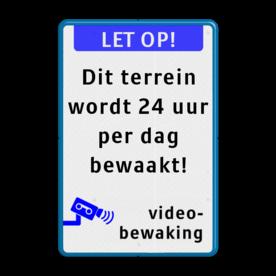 Camerabewaking - koptekst - eigen tekstregels - Videobewaking - BP10