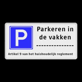 Parkeerbord RVV E04-3txt-ondertekst