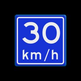 Verkeersbord RVV A04-vrij invoerbaar - Adviessnelheid