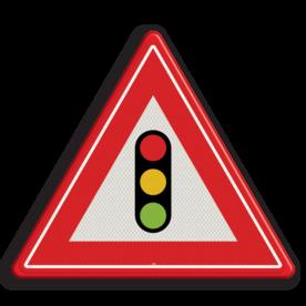 Verkeersbord RVV J32 - Vooraanduiding verkeerslichten